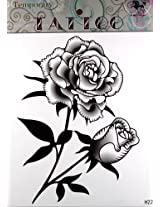 GGSELL GGSELL KING HORSE Large size 11.81 x 8.66 Inches Waterproof black and white flowers new big design temporary tattoo stickers