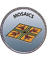 """Keepsake Awards Mosaics Silver Award Pin """"Creative Arts and Hobbies Collection"""" 1 inch dia"""