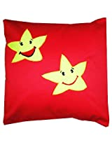 Smiley Star Cushion Cover - Pink