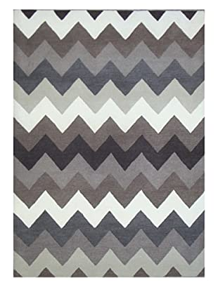 Mili Designs NYC Gray Zig Zag Rug, 5' x 8'