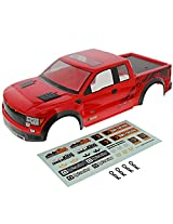 Hpi 1/10 Crawler King * Red Ford F 150 Svt Raptor Body Shell, Decals, & Clips *