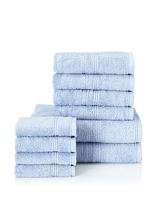 Chortex 10-Piece Imperial Bath Towel Set, Bluebell