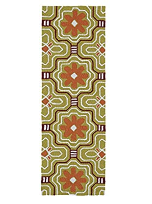 Kaleen Matira Indoor/Outdoor Rug, Gold, 2' x 6' Runner