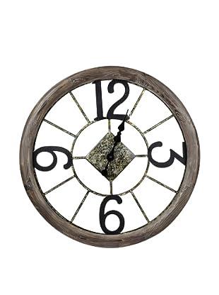 Cooper Classics Caravita Wall Clock, Natural Wood