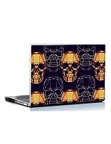 Seven Rays Geometric Skull Art Laptop Skin