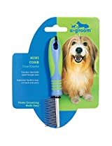 "u groom Mini Combs  -  Ergonomic Combs for Grooming Dogs - Fine/Coarse, 71/2"""