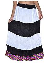 Famacart Women Long Skirt Black