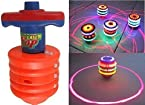 Laser Spinning Top with LED Light and Laser Toy (Color/Design May Vary)