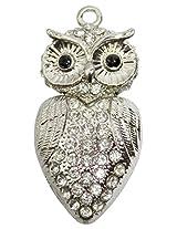 Pen Drive ZT11619 Owl Shape Fancy Jewellery Style 16 GB USB 2.0 pen drive in Silver Color