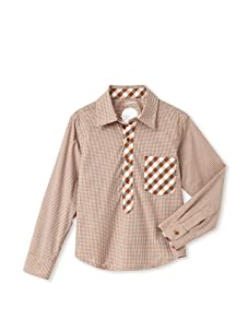 kicokids Boys Dual-Print Button-Up (Amber)