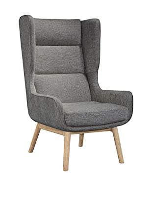 International Design USA Harmony Wing Chair, Graphite