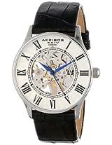 Akribos XXIV Men's AK499SS Bravura Slim Mechanical Leather Strap Watch