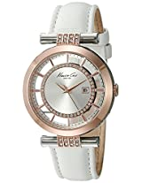 Kenneth Cole Transparency Analog Silver Dial Women's Watch - 10021107