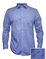 Peter England Blue Casual Shirt