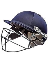 Shrey Sh101009 Match Cricket Helmet with Mild Steel Visor, Medium (Navy Blue)