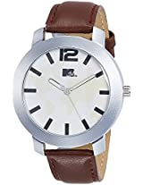 MTV Analog White Dial Men's Watch - M-3013