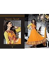 Divine Yellow Faux Georgette Anarkali Salwar Kameez
