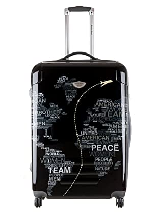 American Revival Trolley Map World 60x41x26 cm (Schwarz)