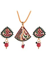 Ganapathy Gems Gold Plated Pendant Set for Women (6147)