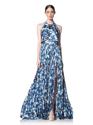 Peter Som Women's Halter Rose Print Gown