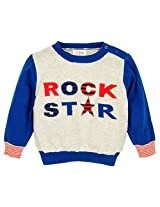 Infant Boys Full Sleeve Sweater, Multi Colour (0-6 Months)