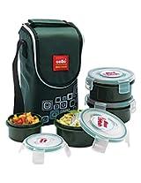 Cello Max Fresh Click Polypropylene Lunch Box Set, 4-Pieces, Green