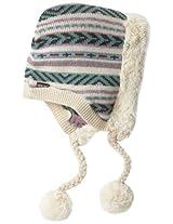 Muk Luks Women's Snow Bunny Hoodie Helmet Hat, Multi, One Size