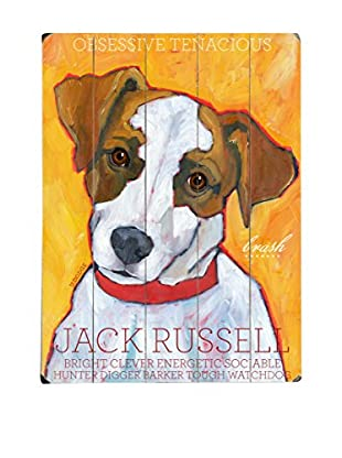 Artehouse Jack Russell Wood Wall Décor (White/Brown/Orange)