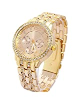 Geneva Analogue Gold Dial Women's Watch - g7475_D