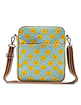 Pink Lining Out and About Mini Messenger Bag, Sunflowers
