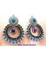 Beautiful Elegant Pearl Polki Earrings