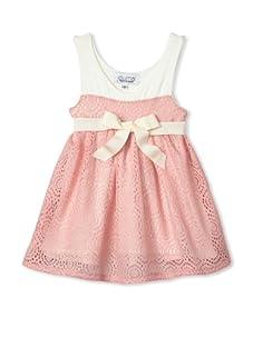 Journal Girl's Crochet Party Dress (Pink)