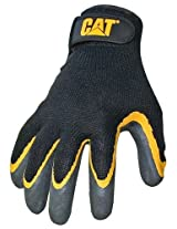 Boss - Cat Gloves CAT017415L GLOVE BLACK LATEX COATED PALM LARGE