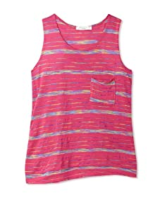 Pinc Premium Girl's 7-16 Rainbow Racerback Tank (Rainbow Stripe)