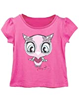 Beebay Girls Owl T-Shirt Pink 12Y