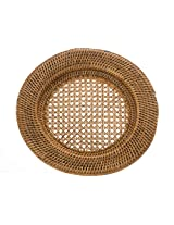 KOUBOO Round Rattan Charger Plate, Honey Brown
