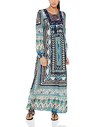 Tantra Vestido Largo Long print with Embroidery Chest
