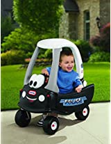 Little Tikes 615795 M Cozy Coupe Ride On Patrol Police Push Car W Working Horn