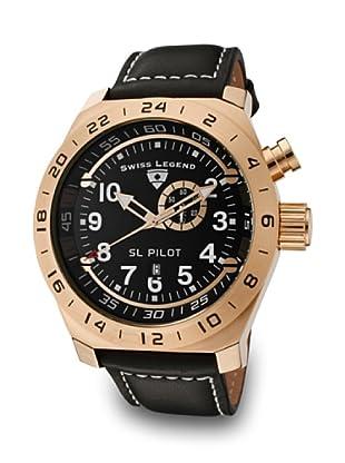 Swiss Legend Reloj Cuarzo SL Pilot GMT oro/negro