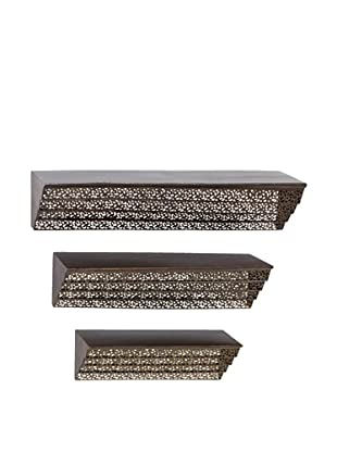 UMA Set of 3 Metal Wall Shelves