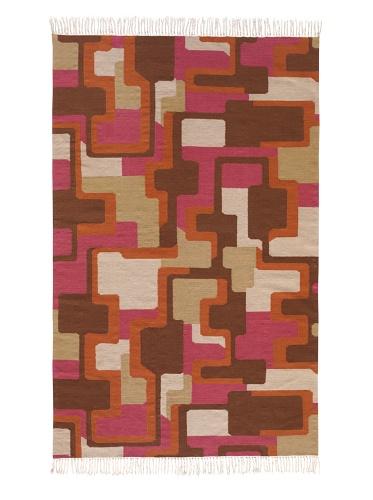 Angela Adams Foxy Hand-Woven Wool Rug (Copper)