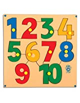 Skillofun Numerical Shape Tray 1-10 with Knobs, Multi Color