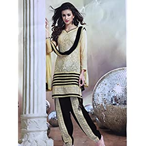 Fashioniista First Impression Yellow - Dress Material