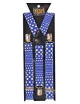 Tiekart Mens Y-Back Suspender (Sus222_Blue)