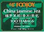 Foojoy Chinese Jasmine Green Tea - 100 Tea Bags
