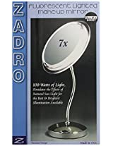 Zadro SL47 Surround Light Lighted Florescent Single Sided Pedestal Make-Up Mirror, Satin Nickel