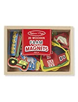 Wooden Farm Magnets: Skill Builders - Magnetic Activities