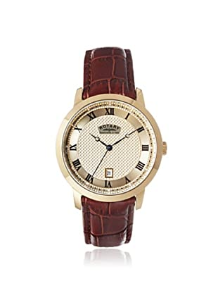 Rotary Men's GS42827/08 Brown/Champagne Textured Leather Watch