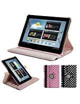 GMYLE(R) 360 Degree Rotating PU leather Folio Stand Case Cover for tablet Galaxy Tab 1 2 10.1