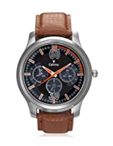 Calvino Men's Black Dial Watch CGAS_1515524_BrwnBlk